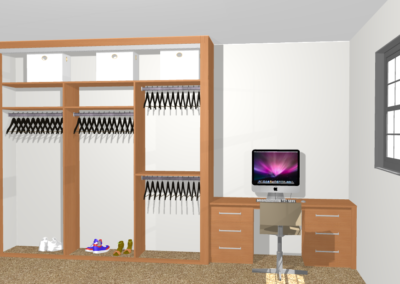 Bespoke Wardrobe Interior and Desk Design The Sliding Wardrobe Company | Kent | Essex | East Sussex