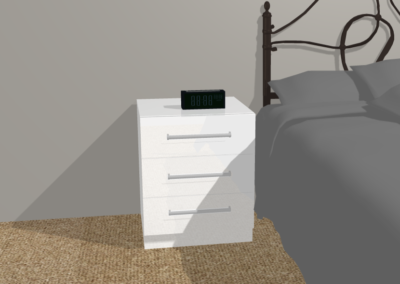 design of white bedside cabinet The Sliding Wardrobe Company | Kent | Essex | East Sussex