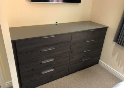 Charcoal grey chest of draws | The Sliding Wardrobe Company | Kent | Essex | East Sussex