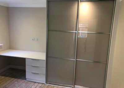 Wardrobe with small desk built in | The Sliding Wardrobe Company| Kent | Essex | East Sussex